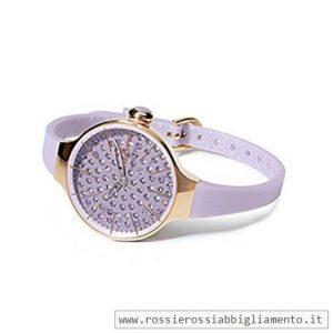 Hoops orologio gomma lilla con strass 2483LGD10-42