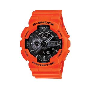 orologio casio g-shock gomma arancio digitale analogico ga-110mr-4aer