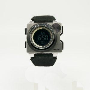 Orologio uomo Diesel - Solo tempo digitale - cinturino in Perlon- casa in acciaio - quadrante nero