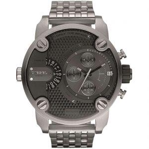 orologio DIesel cintuirno in acciaio quadrante grigio cassa in acciaio multifunzione DZ7259