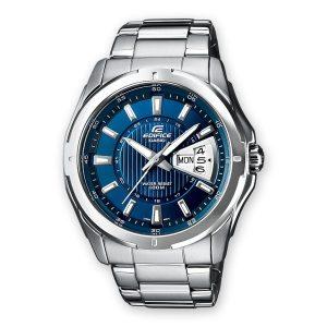 orologio Casio edifice quadrante blu cassa in acciaio e cinturino in acciaio e water resist