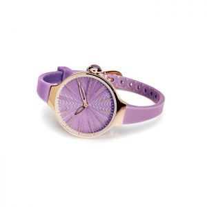 orologio hoops 2483lg-18 lilla cassa dorata