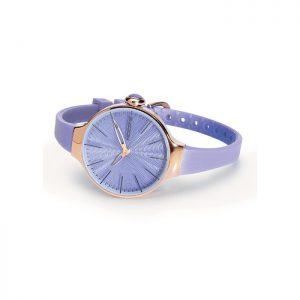 orologio gomma hoops lilla cassa acciaio rosè 2483lg2235