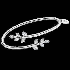 bracciale lotus silver rigido con foglie e strass lp1783-2/1