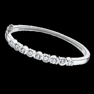 bracciale lotus silver con tondini e zirconi lp1785-2/1