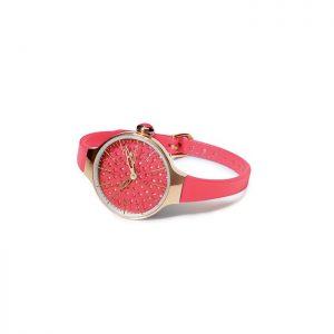 orologio gomma hoops fucsia quadrante con brillantini casa acciaio rosè 2483lgd12-42