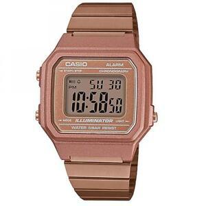 orologio casio vintage colore rosato quadrante ottagonale b650wc-5adf