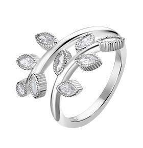 Anello in argento folie con zirconi bianchi lp1783-3/112