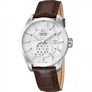 orologio jaguar uomo cinturino pelle cassa acciaio quadrante bianco j663/1