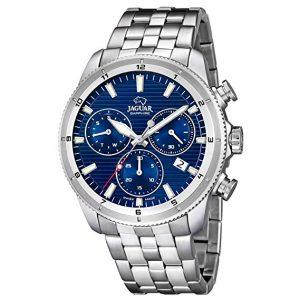 Orologio uomo Jaguar j687/A chrono, cinturino acciaio, cassa acciaio, quadrante blu, water resist 10 atm, vetro zaffiro