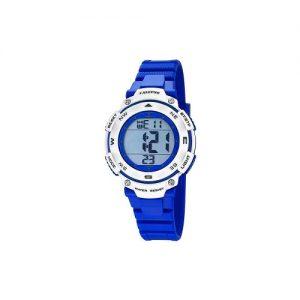 Orologio Calypso Bimbo digitale , cinturino blu elettrico in gomma , cassa in plastica blu elettrico e bianca ,water resist 10 atm - Chrono - Light - Alarm. k5669/7