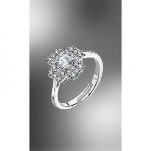 Anello in argento fiore con zirconi bianchi di cui uno grande centraleLP1610-3_1