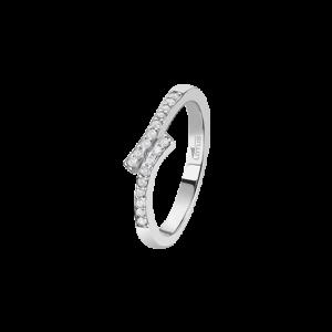 Anello in argento contrarier con zirconi bianchi lp1784-3/112