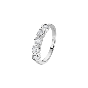 Anello in argento veretta 5 pietre bianche lp1785-3/112