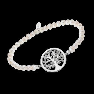Bracciale lotus silver con perle albero della vita con zirconi lp1892-2/1