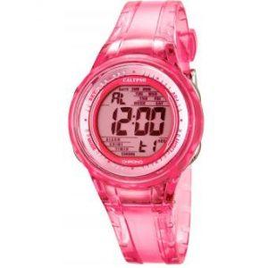 orologio donna/bimba calypso cinturino plastica rosa trasparente digitale k5688/2