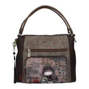 borsa anekke collezione egitto 29891-58egy con tracolla e portachiavi gioiello