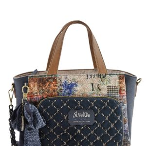 borsa anekke collezione couture 29881-65coc con portachiavi gioiello e foulard