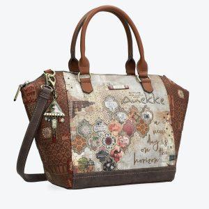 borsa anekke collezione egitto 29891-14egy con tracolla e portachiavi gioiello