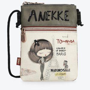 borsa anekke collezione Mademoiselle con ampia cerniera e dotata di tracolla e copriborsa