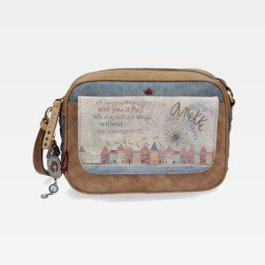 borsa anekke collezione liberty 26832-14 con tracolla tasca con cerniera e copriborsa