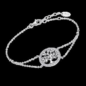 Bracciale in Argento Lotus Silver - Albero della Vita con Strass lp1746-2/1