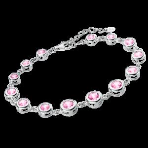 Bracciale argento con zirconi rosa lp1787-2/2