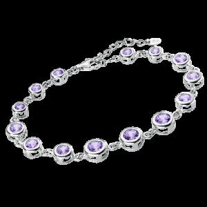 Bracciale argento con zirconi lilla lp1787-2/3