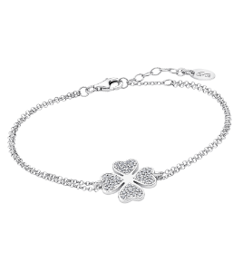 Bracciale in Argento Lotus Silver - Con quadrifoglio e zirconi lp1858-2/1
