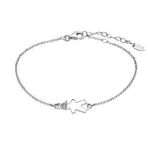 Bracciale Lotus Silver in Argento - Bimbo con strass nei capelli - La catenina è regolabile - Con chiusura a moschettone. lp1582-2/2