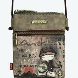 borsa anekke collezione egitto con ampia tasca chiusa con cerniera e dotata di tracolla e copriborsa