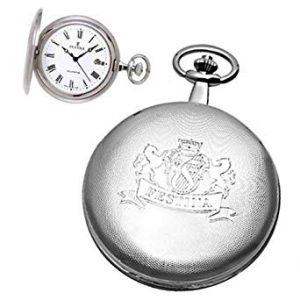 Orologio da tasca Uomo Festina,cassa metallo - swissmade - catena da polso - quadrante bianco numeri romani e lancette nere - datario.