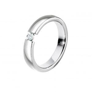 Anello Morellato collezione Love Rings con referenza S8532010 Materiale: Acciaio Pietra: Diamante naturale selezionati h/i Anello misura 10