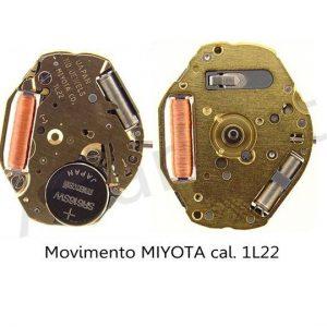 Marca: MIYOTA Calibro Movimento: 1L22 Dimensioni: 6 3/4-8 Altezza movimento: 2,15 mm Sfere : 2 Pila: 321