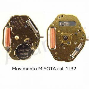 Marca: MIYOTA Calibro Movimento: 1L32 Dimensioni: 6 3/4-8 Altezza movimento: 2,28 mm Sfere : 3 Pila: 364