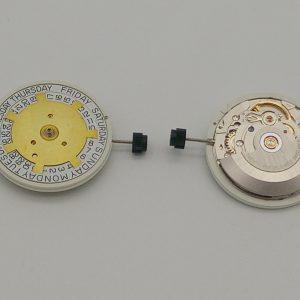 Marca: ETA Calibro Movimento: 2834 Dimensioni: 13‴ Altezza movimento: 5,05 mm Sfere : 3 Diametro: 29,00 mm Funzioni: Automatico - Solo Tempo con Doppia Data