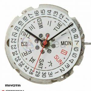 Marca: MIYOTA Calibro Movimento: 8205 Dimensioni: 11 1/2 Altezza movimento: 5,67 mm Sfere : 3 Data: Doppia data al 3 - 21 Rubini Funzioni: Automatico