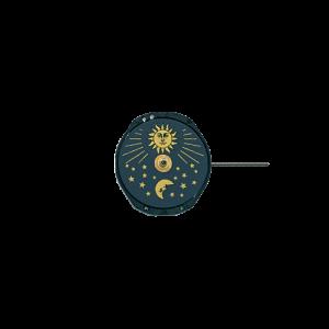 """Marca: SHIOJIRI-SEIKO Calibro Movimento: PC29 Dimensioni: 6 3/4 - 8 """" Altezza movimento: 4,15 mm Sfere : 3 Diametro: 18,50 mm Funzioni: Solo Tempo e Fase Lunare"""