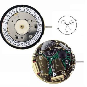 "Marca: ISA Calibro Movimento: 8174-201 Dimensioni: 11 1/2"" Altezza movimento: 4,60 mm Sfere : 3 Diametro: 25,60 mm Funzioni: Tempo -  Data- Chrono - Alarm Data al 6 - 9 Jewels Allarme con lancetta 60 secondi ore 2 30 minuti ore 10"
