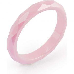 Anello Tring per Donna a Marchio Brosway con referenza BTGC21E Il nome della collezione a cui appartiene è Curiosità, Materiale ceramica rosa, Anello misura 20.