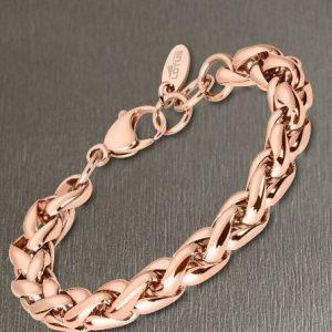Bracciale da Donna a Marchio Lotus Style, con la referenza LS2127/2/3 Il nome della collezione a cui appartiene è Urban Woman, Bracciale in acciaio color rosè , Lunghezza 21 cm regolabile con catenina.